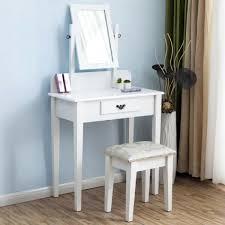 coiffeuse blanche si e avec miroir inclus meuble maquilleuse cool coiffeuse meuble moderne meuble de et