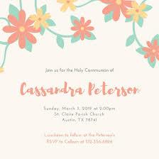 holy communion invitations customize 198 communion invitation templates online canva