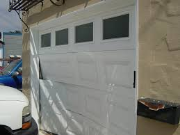 car crash garage door repair 3 panels replaced youtube