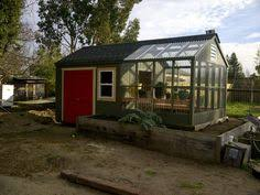 Garden Shed Greenhouse Plans Wooden Greenhouse And Solar Potting Shed Gnome Garden