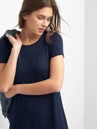 softspun short sleeve t shirt dress gap
