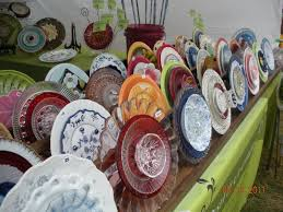 Garden Whimsies Yard Art Garden Flowers Made Out Of Old Dishes Loved These Glass Plate