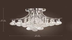 3 Bulb Flush Mount Ceiling Light Fixture by Elegant Designs Fm1000 Chr Ellipse Crystal 2 Light Ceiling Flush
