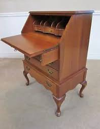 Cherry Secretary Desk by Vintage Cherry Queen Anne Slant Front Secretary Gov Winthrop