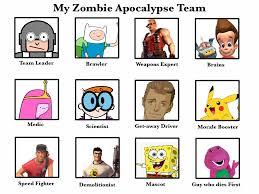 My Zombie Apocalypse Team Meme Creator - my nicktoon zombie apocalypse team by cartoonfanboyone on deviantart