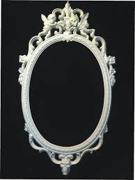 gloss white skull cherub oval picture frame mirror shabby chic