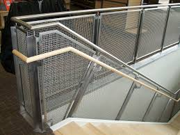 metal landing banister and railing woven wire metal railings exterior stainless steel mesh railing