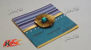 diy greeting card for raksha bandan how to make jk arts 301