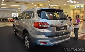 2016 Ford Everest 2016 Ford Everest U2013 2 2l Trend 4 2 And 3 2l Titanium 4 4 On