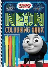 neon colouring book thomas tank engine wikia fandom