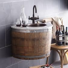 bordeaux wine barrel wall mounted bathroom vanity base native trails