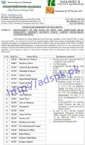 journalists jobs in pakistan airport security fpsc inspector asf f 4 134 2017 results written test 2017 airports