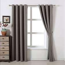 Grommet Top Blackout Curtains Amazlinen Sleep Well Blackout Curtains Toxic Free Energy Smart