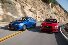 new mitsubishi evo 2017 the end of a rivalry mitsubishi lancer evolution mr and subaru