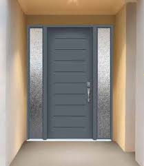 custom wrought iron door glass and transom with a modern feel