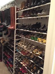 photos hgtv custom walk in closet with storage for shoes and