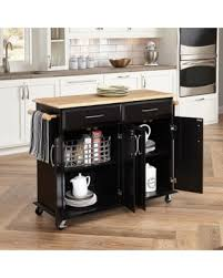 wood kitchen island cart amazing deal on gracewood hollow defoe black wood with