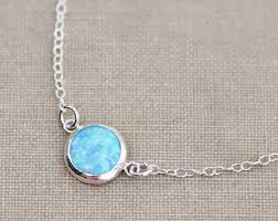 opal stone silver necklace images Silver opal necklace etsy jpg