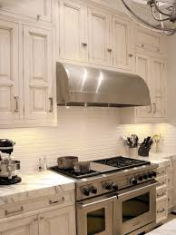decorating white tile kitchen backsplashes with cooper range