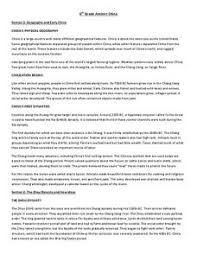 ancient china 6th 7th grade worksheet lesson planet