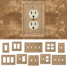 travertine light switch plates details about tumbled travertine faux textured stone noce resin