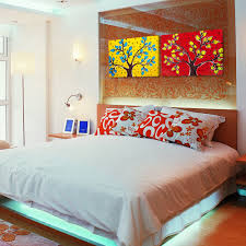 wall art paintings for modern bedroom interior design ideas with