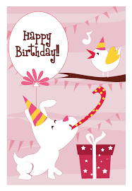 dog n bird free birthday ecard greetings island