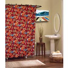 Shower Curtains With Red Red Shower Curtain Deanmillerprints Com