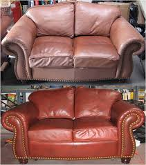 How To Dye Leather Sofa Before And After Gallery Advanced Leather Repair And Restoration