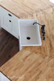 best 25 butcher block oil ideas on pinterest farm sink kitchen the red feedsack butcher block counter tops ikea birch butcher block treated with dark