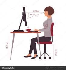 position assise bureau position d assise correcte posture bureau bureau image