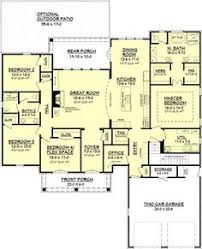 House Plans With 4 Bedrooms House Plan 110 00380 Country Plan 2 261 Square Feet 4 Bedrooms
