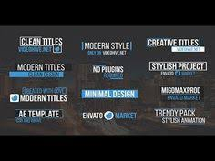 videohive trailer titles pack after effects templates windows