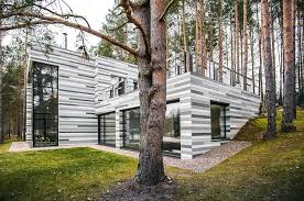 forest house forest house gets stunning exterior with different shades of grey