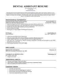 Dental Office Resume Sample by Dental Assistant Resume Examples Dental Hygienist Classic