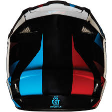 blue motocross helmet fox mx gear new v1 race blue red motocross mtb bmx dirt bike