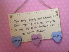 grandparent plaques handmade nanny personalised wall plaque for mothers day mothers