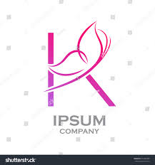abstract letter k logobutterfly fashion stock vector