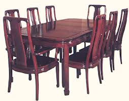 Rosewood Dining Room Set Dinning Set Carved Table And Chairs Seats 8 With Silk