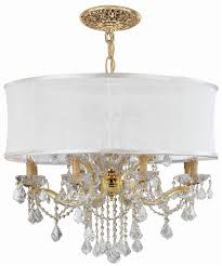 Chandelier With White Shade Buy Chandelier Draped W Smooth Antique White Silk Shade