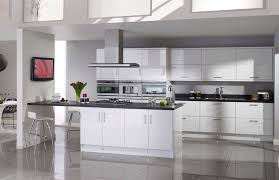 White Gloss Kitchen Ideas Topfitkitchens The Salerno Gloss White Kitchen With Slate Pv Edge