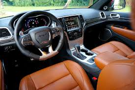 jeep grand cherokee custom interior driven 2016 jeep grand cherokee srt carfax blog