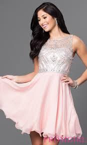 jeweled illusion short plus size prom dress promgirl