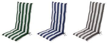 sitzauflagen hochlehner grau gartenstuhlauflagen auflagen sitzauflagen hochlehner blockstreifen