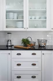 image result for black granite countertops with subway tile