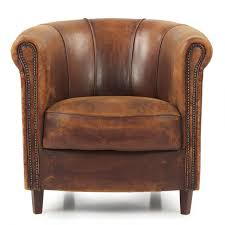 art deco style vintage leather club chair
