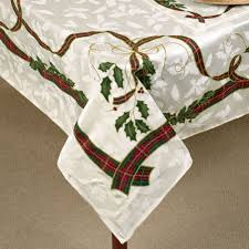 Dining Room Linens by Decorating White Starlight Lenox Tablecloth With Pure Skin Design