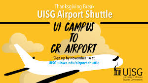 airport shuttle of iowa student government the