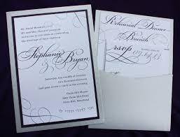 Wedding Invitations With Pockets Modern Lavendar Wedding Invitations Silver Large Names
