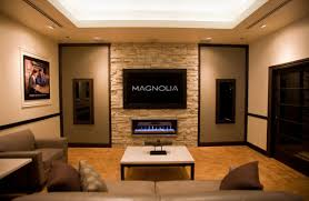 handsome modern living room decoration using cream stone living